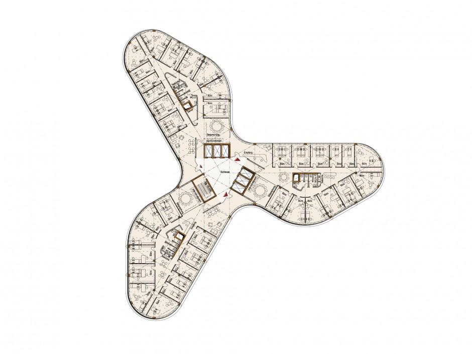 Bürohochhaus Signal-Iduna | Prof. Carsten Roth Architekt, Hamburg | Hamburg | HansaInvest, Hamburg | Wettbewerbe | Dr. Kreutz+Partner - Beratende Ingenieure