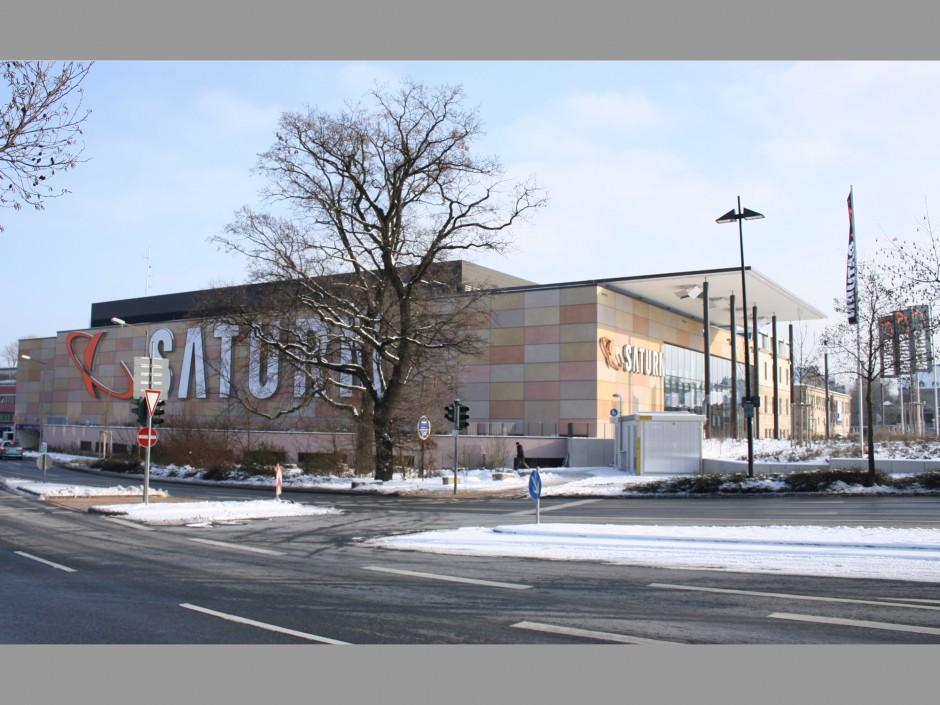 Neubau eines Saturn Elektro-Fachmarktes mit Tiefgarage | Architekten Nowak + Thaler, Regensburg | Fürth | Media-Saturn Real Estate & Development GmbH, Ingolstadt | Prüfung | Dr. Kreutz+Partner - Beratende Ingenieure