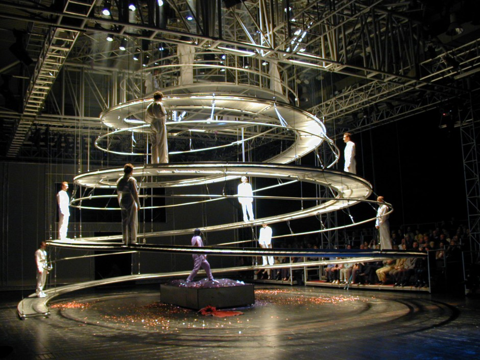 Faustspirale Expo 2000 | Peter Stein / Prof. Johann Eisele, Darmstadt | Hannover | Mannesmann-Rexroth, Faust Ensemble Peter Stein | Sonderbau | Dr. Kreutz+Partner - Beratende Ingenieure