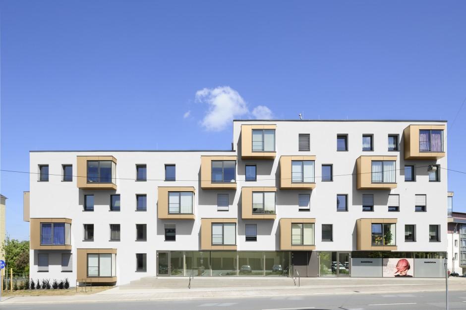 """ZAS - Wohnanlage """"Zentral an der Saal""""   H²M – Architekten, Häublein – Müller GdbR, Kulmbach   Hof   Stadterneuerung Hof GmbH   Hochbau   Dr. Kreutz+Partner - Beratende Ingenieure"""