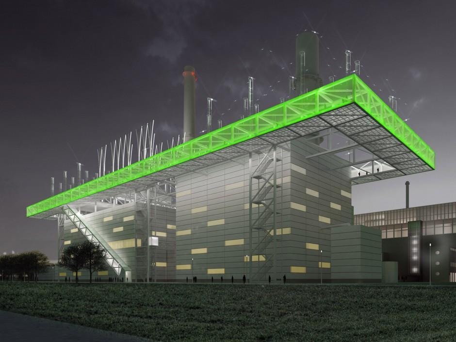 Kraftwerk Lausward   netzwerkarchitekten, Darmstadt   Düsseldorf   Stadtwerke Düsseldorf AG   Wettbewerbe, Industriebau   Dr. Kreutz+Partner - Beratende Ingenieure