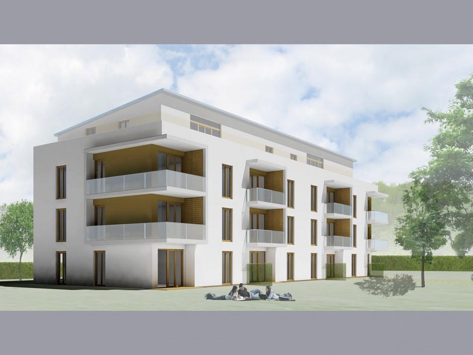 Drei Mehrfamilienhäuser mit Tiefgaragen | Schinharl Höss Amberg - Architekten, München | Oberschleißheim | Baugesellschaft München-Land GmbH, Haar | Hochbau | Dr. Kreutz+Partner - Beratende Ingenieure