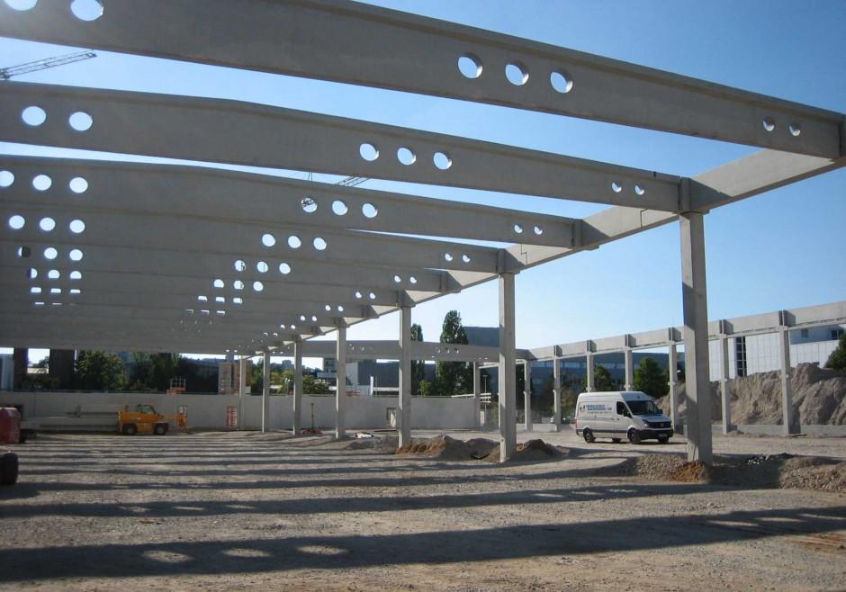 Neubau Industriehalle L | S+P, Gesellschaft von Architekten mbH, Nürnberg | Fürth | Siemens AG, Erlangen | Hochbau, Industriebau | Dr. Kreutz+Partner - Beratende Ingenieure