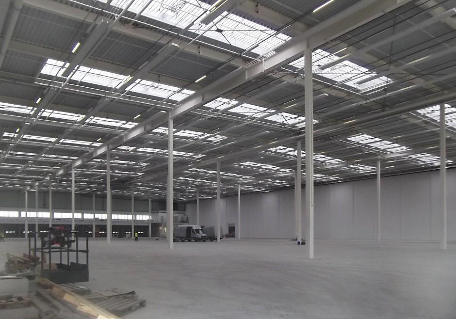 Logistikzentrum, Herrieden | Spengler Architekturbüro, Nürnberg | Herrieden-Esbach | Landratsamt Ansbach | Hochbau, Prüfung | Dr. Kreutz+Partner - Beratende Ingenieure